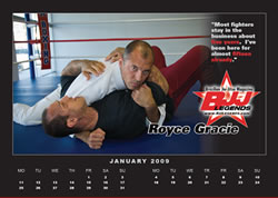 Freebie For You BJJ, Jiu-Jitsu Junkies, 2009 January and February Calendars