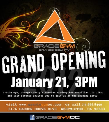 Gracie Gym Opens in OC