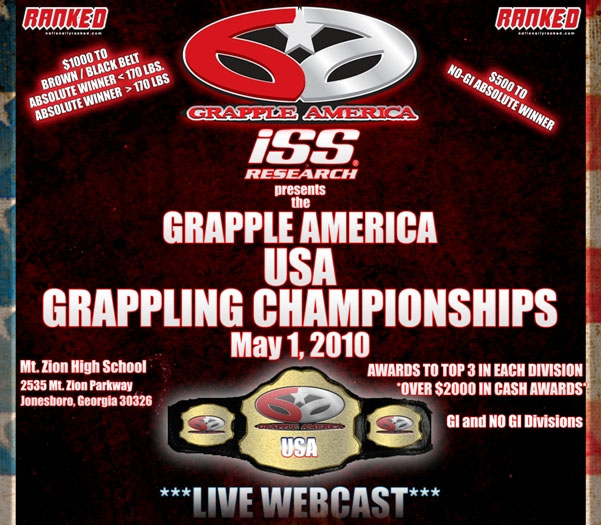 Grappling Championships- May 1: $Cash Prizes