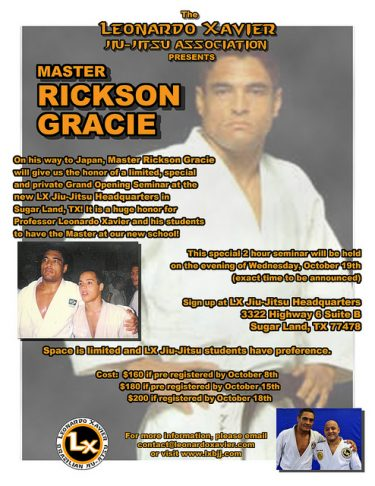 Rickson Gracie Seminar – Houston, TX