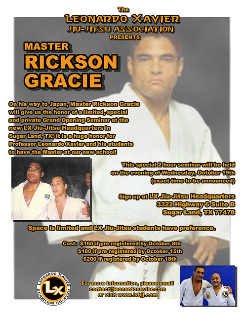 Rickson Gracie Seminar – Houston, TX